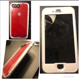 iPhone 8plus life-proof nuud case.